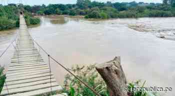 Lambayeque: aumento del caudal del río Zaña hace colapsar tomas de captación LRND - LaRepública.pe