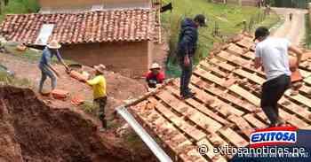 Áncash   Fuertes lluvias colapsan dos viviendas en Pomabamba - exitosanoticias