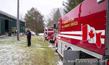 News 3 King Township fire crews dispatched to Nobleton barn fire - yorkregion.com