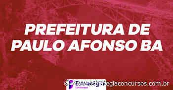 Prefeitura de Paulo Afonso marca prova dissertativa em... - Estratégia Concursos