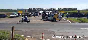 Moradores de Mandaguari protestam contra o fechamento da Estrada Terra Roxa - Maringá Post - Maringá Post