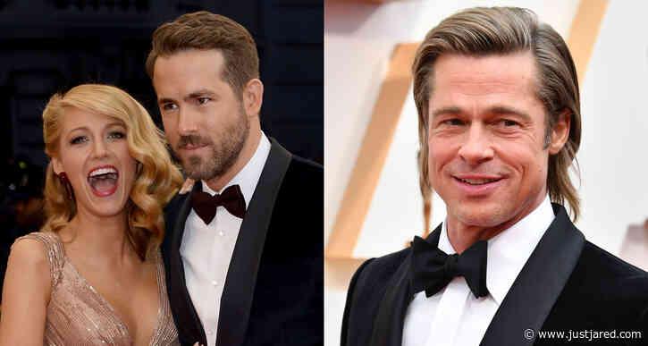 Blake Lively Jokes Ryan Reynolds 'Didn't Invite' Her to Meet Brad Pitt on 'Deadpool 2' Set