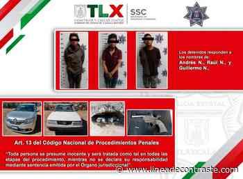 La SSC detiene en Calpulalpan a tres sujetos presuntamente involucrados en el robo de vehículos - Linea de Contraste