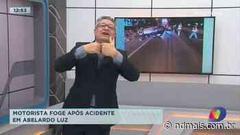 Motorista foge após acidente em Abelardo Luz - ND Mais