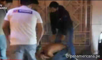 Vecinos de Huanta capturan y golpean a ladrones que huían en mototaxi   Panamericana TV - Panamericana Televisión