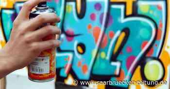Polizei Lebach erwischt vier Sprayer in Schmelz an der Primshalle - Saarbrücker Zeitung