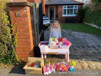 Entrepreneurial five year old sets up toy stall in Penwortham for Rosemere - Blog Preston