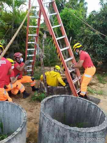 Corpo de homem é encontrado dentro de cisterna em Esmeraldas - G1