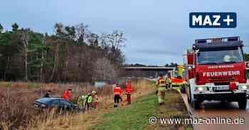 Michendorf: Unfall auf A115 - Mercedes kommt von Fahrbahn ab - Märkische Allgemeine Zeitung