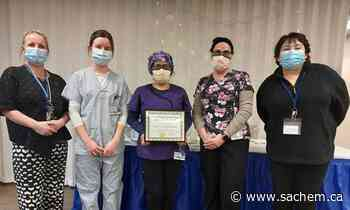 West Haldimand General Hospital in Hagersville presents award to its COVID-19 assessment centre team - Grand River Sachem