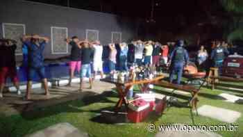 Lockdown no Ceará: PM encerra festa clandestina com aglomeração em Pacatuba - O POVO