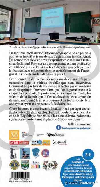 Touche pas à mon professeur Collège Jean Racine 30100 ALES dimanche 14 mars 2021 - Unidivers