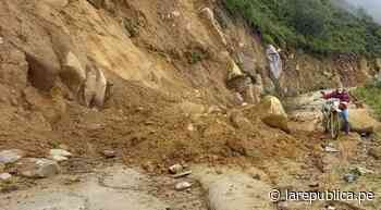 Casas a punto de colapsar y vías bloqueadas ante huaicos en Otuzco - LaRepública.pe