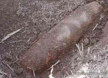 Scharfe Panzergranate in Thale gefunden - Volksstimme