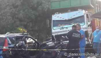 Cuatro fallecidos deja accidente de tránsito en San Luis Talpa, La Paz Según hipótesis policiales, los ocupantes del vehículo se trasladaban en estado de ebriedad. - Diario El Mundo