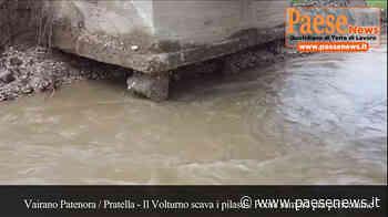 """Vairano Patenora / Ailano / Pratella – Il Volturno """"divora"""" la base della colonna, ponte in bilico. Residente della zona: siamo abbandonati (guarda il video) - Paesenews"""