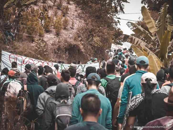 [En Imágenes] Comunidad de Hacarí se moviliza para exigir el retiro de base militar - Agencia de Comunicación de los Pueblos Colombia Informa