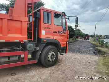 MOPC continúa con el mejoramiento vial en Villa Hayes y Nanawa | - ip.gov.py