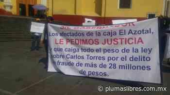 Habitantes de Atzalan, Altotonga y Martínez de la torre denuncian que candidato de MORENA a diputado por Martínez Juan Carlos Torres, les robó 28 millones de caja Azotal - plumas libres