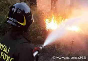 Sesto Calende: incendio in via Lentate, vigili del fuoco in azione - MALPENSA24 - malpensa24.it