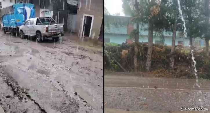 Piura: reportan lluvia torrencial, granizo y descargas eléctricas en Huancabamba | VIDEO - El Comercio Perú