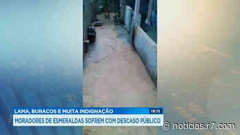 Moradores de Esmeraldas (MG) sofrem com a lama da chuva - HORA 7