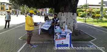 ODPE Tambopata instala mesa informativa en plaza central de Puerto Maldonado - Radio Madre de Dios