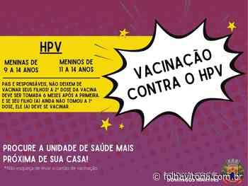 Secretaria de Saúde de Domingos Martins alerta para a vacinação contra o HPV para meninos e meninas - Folha Vitória
