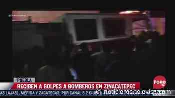 Pobladores de Zinacatepec reciben a golpes a bomberos de Ajalpan, Puebla - Noticieros Televisa