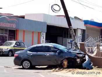 Enfermera se estrella contra un poste en Chitré - El Siglo Panamá