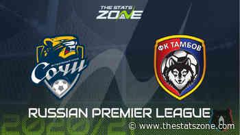 2020-21 Russian Premier League – Sochi vs Tambov Preview & Prediction - The Stats Zone