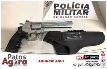 PM de Monte Carmelo apreende motocicleta furtada e arma de fogo - Patos Agora