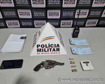 PM prende trio após roubo em Monte Carmelo e apreende arma, cheques e munições - Patos Hoje - Notícias de Patos de Minas