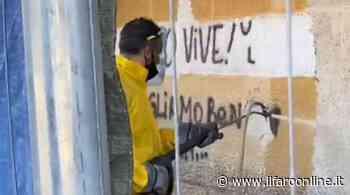 Ostia, rimosse le scritte sui muri della stazione di Lido Centro - IlFaroOnline.it