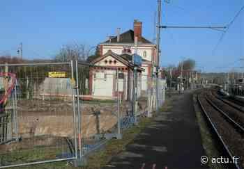 Yvelines. Un passage souterrain en construction pour sécuriser la gare de Maule - actu.fr