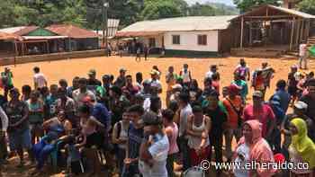 Instalan campamento humanitario para familias mineras en Puerto Libertador - EL HERALDO