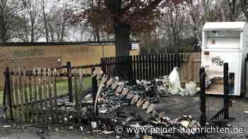 Wertstoffinsel in Vechelde geht komplett in Flammen auf - Peiner Nachrichten