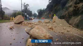 Por caída de rocas, problemas en la vía Viotá-La Victoria - El Tiempo