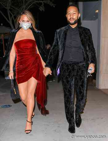 Chrissy Teigen & John Legend Step Out Post-Grammys, Plus Jessica Chastain, Megan Thee Stallion and More - Yahoo Entertainment