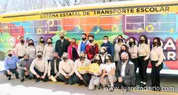 Se hace entrega de camión escolar en Nuevo Casas Grandes - Juárez a Diario