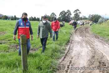 Gobernador visitó Nemocón para evaluar afectaciones por fuertes lluvias - Extrategia Medios - Extrategia Medios