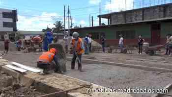 Municipalidad provincial de Tambopata inicia obra de pavimentación en el jirón Faustino Maldonado - Radio Madre de Dios