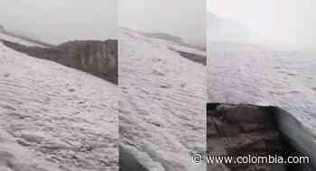 Volvió a nevar en el Cocuy, así se vio la majestuosa nevada en la Sierra - Colombia.com