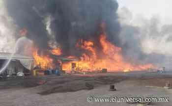 Video. Se incendia mercado de muebles en límite de Ixtapaluca y Chalco | El Universal - El Universal