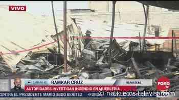 Autoridades investigan incendio en mueblería en Ixtapaluca - Noticieros Televisa