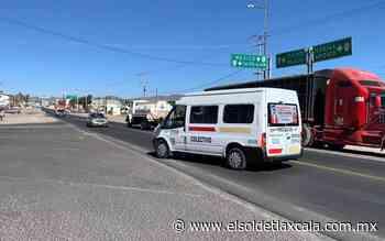 Solicitan semáforos en vía de Calpulalpan - El Sol de Tlaxcala