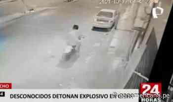 Huacho: delincuentes desatan pánico tras detonar explosivo en puerta de chifa   Panamericana TV - Panamericana Televisión