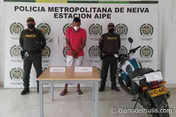 Sujeto fue capturado en la vía Neiva – Aipe con sustancias psicoactivas - Diario del Huila