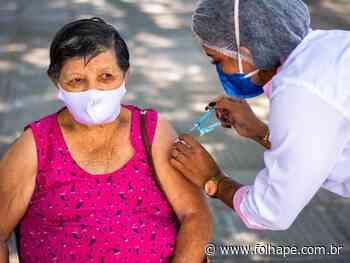 Cabo de Santo Agostinho inicia vacinação para idosos a partir dos 73 anos - Folha de Pernambuco