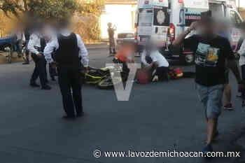 Se accidenta un motociclista en la avenida San Juanito Itzícuaro, en Morelia - La Voz de Michoacán